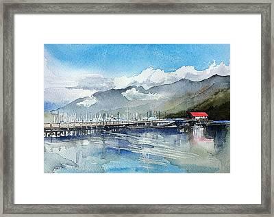 Boathouse Framed Print by Stephanie Aarons