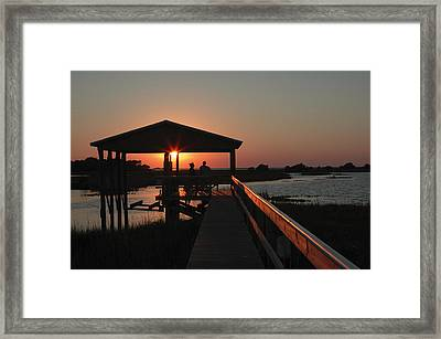 Boathouse Sunset Framed Print by Stacey Lynn Payne