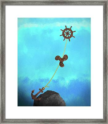 Boating Concept Framed Print