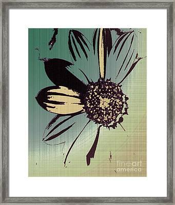 Boating Flower W Framed Print