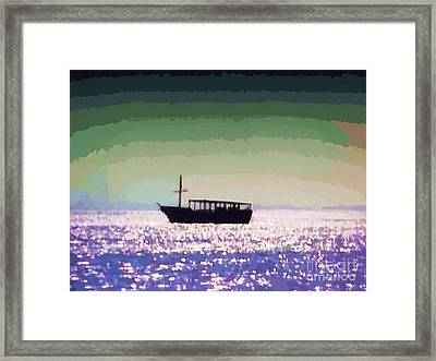 Boating Home Framed Print