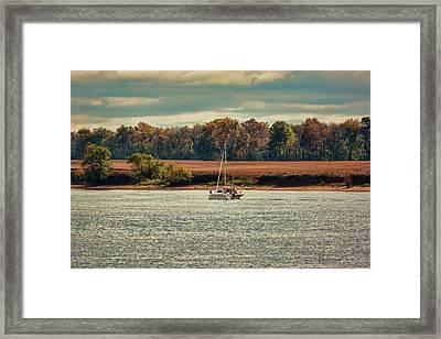 Boating In Autumn 2 Framed Print
