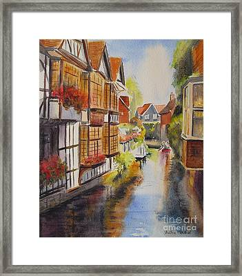 Framed Print featuring the painting Boating In Canterbury by Beatrice Cloake