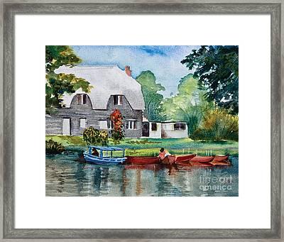 Boating In Essex Uk Framed Print by Dianne Green