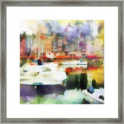 Boating In Honfleur Framed Print by Susan Libby