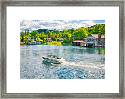 Boating Lake George New York Framed Print