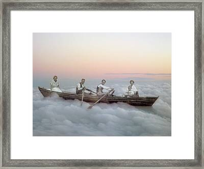 Boating On Clouds Framed Print by Martina Rall
