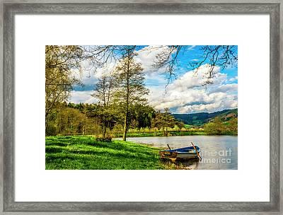 Boating On Golden Pond 254  Framed Print