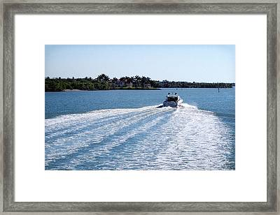 Framed Print featuring the photograph Boating On Naples' Inland Waterway by Lars Lentz