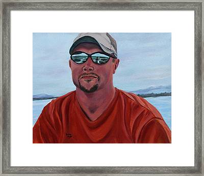 Boating On The Lake Framed Print