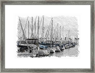 Boating Quite Time In The Harbor Pa 03 Framed Print by Thomas Woolworth