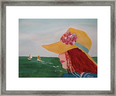 Framed Print featuring the painting Boating by Sandy McIntire