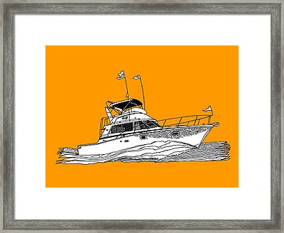 Boating Tee Shirt Framed Print by Jack Pumphrey