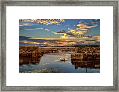 Boatman At Mullaghmore Harbour Framed Print