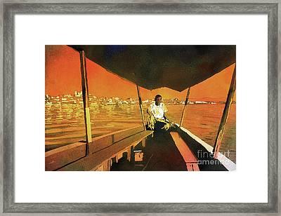 Boatman Guatemala Framed Print by Ryan Fox