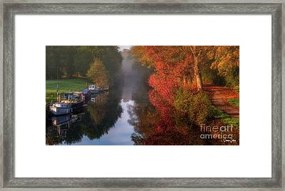 Boats And Channel Framed Print