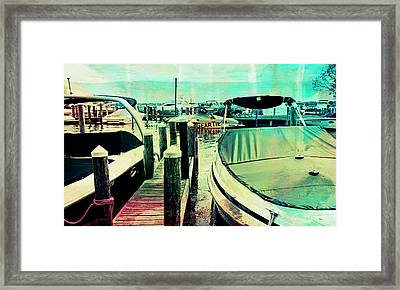 Framed Print featuring the photograph Boats And Dock by Susan Stone