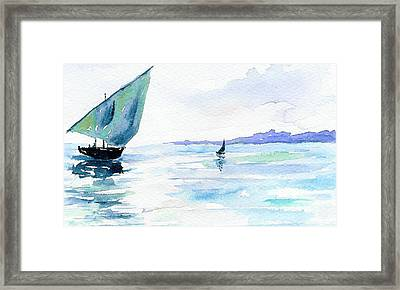 Boats Framed Print by Anne Marie Brown