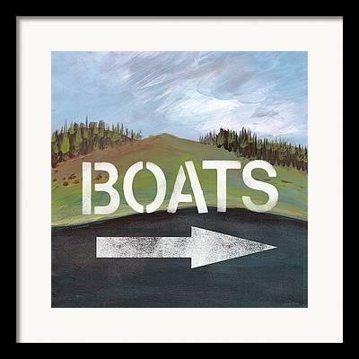 Canoe Mixed Media Framed Prints