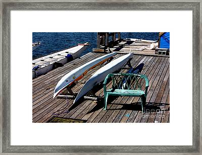 Boats At An Empty Dock 2 Framed Print