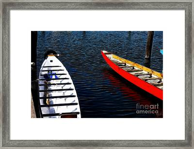 Boats At An Empty Dock 4 Framed Print