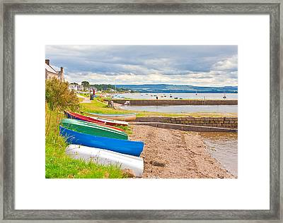Boats At Findhorn Framed Print by Tom Gowanlock