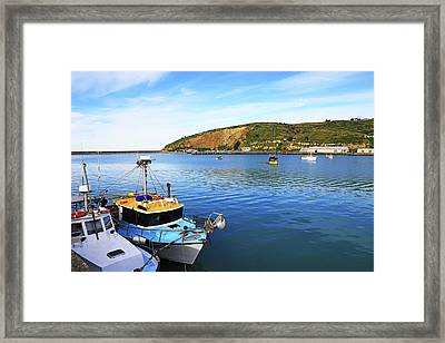 Framed Print featuring the photograph Boats At Friendly Bay by Nareeta Martin