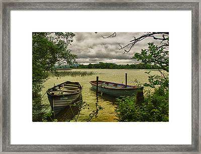 Boats At Holy Island County Clare Ireland Framed Print by Joe Houghton