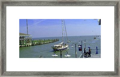 Boats At Kemah Framed Print by Fred Jinkins