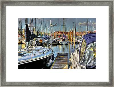 Boats At Kemah Framed Print