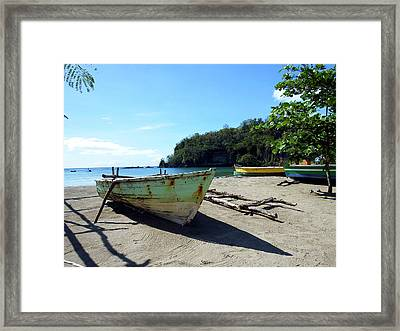 Framed Print featuring the photograph Boats At La Soufriere, St. Lucia by Kurt Van Wagner