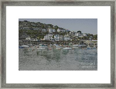 Framed Print featuring the photograph Boats At Looe by Brian Roscorla