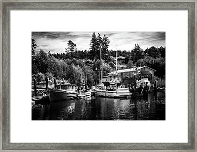 Boats At Lovric's Sea Craft, Washington Framed Print
