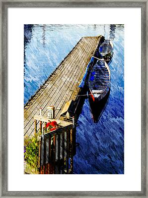 Framed Print featuring the photograph Boats At Rest by Bill Howard
