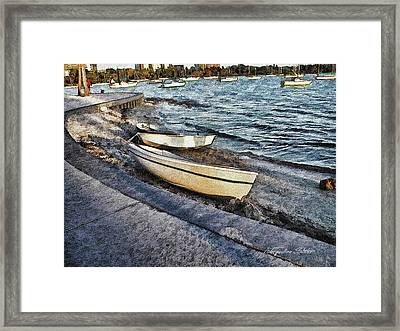 Boats At The Bay Framed Print