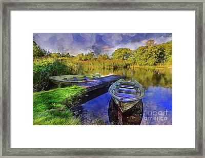 Boats At The Lake Framed Print