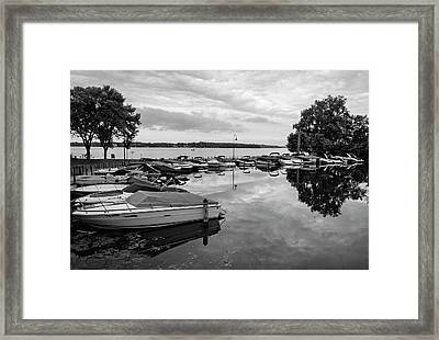 Boats At Wayzata Framed Print