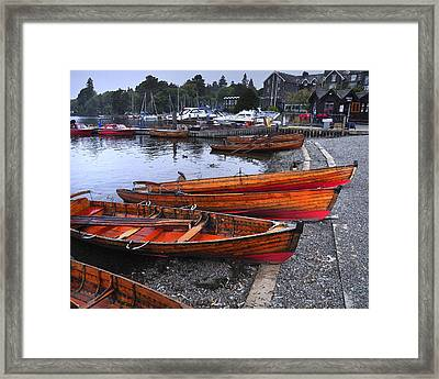 Boats At Windermere Framed Print