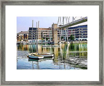 Framed Print featuring the photograph Boats Becalmed Rvd by Jack Torcello