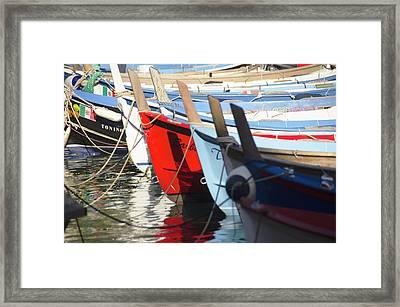 Boats Framed Print by Benjamin Iglesis Buchanan