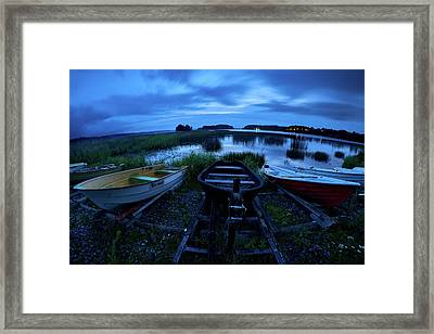 Boats By Night Framed Print