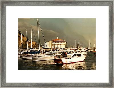 Framed Print featuring the photograph Boats Catalina Island California by Floyd Snyder