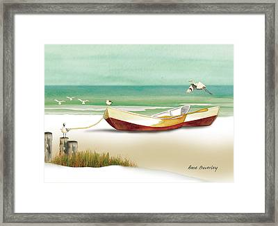 Boats For Rent Framed Print by Anne Beverley-Stamps
