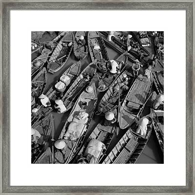 Boats, Hoi An, Vietnam Framed Print by Huy Lam