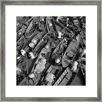 Boats, Hoi An, Vietnam Framed Print