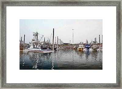 Boats In Alaska Framed Print by James Steele