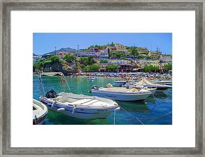 Boats In Bali Framed Print