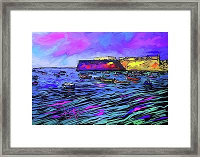 Boats In Cadiz, Spain Framed Print