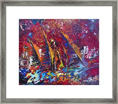 Boats In Calpe 02 Spain Framed Print by Miki De Goodaboom