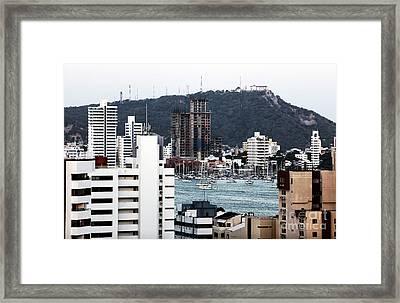 Boats In Cartagena Framed Print by John Rizzuto